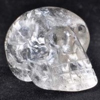 Clear Quartz Skull-Miss V's Luminous Crystals