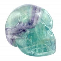 Rainbow Fluorite Skull-Miss V's Luminous Crystals