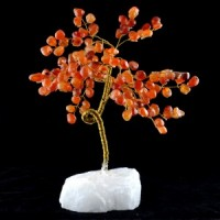 Large Wire Carnelian on Clear Quartz-Miss V's Luminous Crystals
