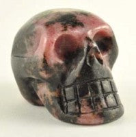 Rhodonite Skull-Miss V's Luminous Crystals