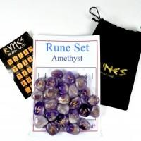 Rune Stones Amethyst Chevron-Miss V's Luminous Crystals