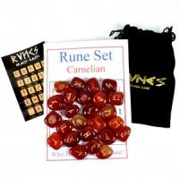 Rune Stones Carnelian-Miss V's Luminous Crystals
