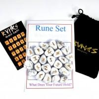 Rune Stones Howlite White-Miss V's Luminous Crystals