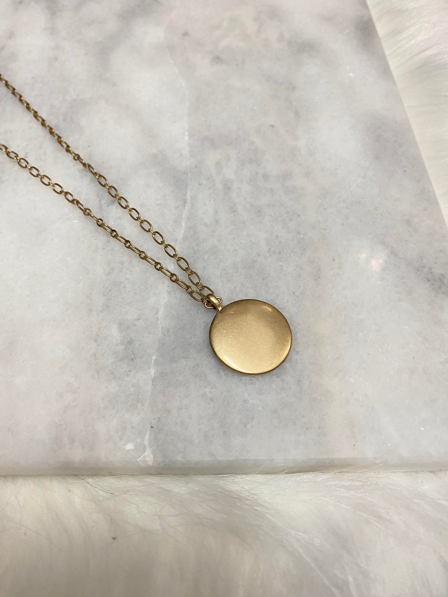 Matte Disc Necklace
