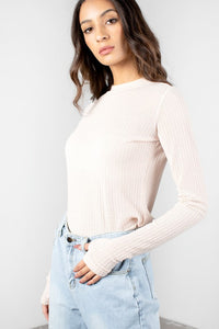 Arianna's Cream Long Sleeve Top