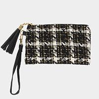 Black, White & Gold Wristlet