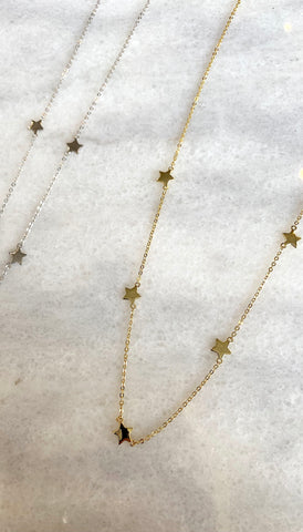 5 Star Necklace SS gold