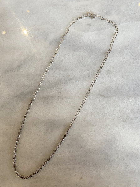Best Of Both World Sterling Silver Necklace