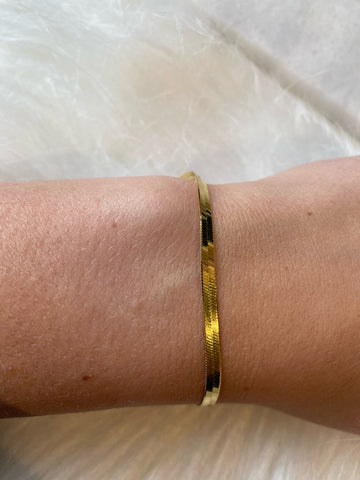 Wrapped in Gold Sterling Silver Bracelet