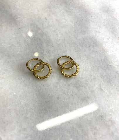 Hot and Cold Sterling Silver Hoops