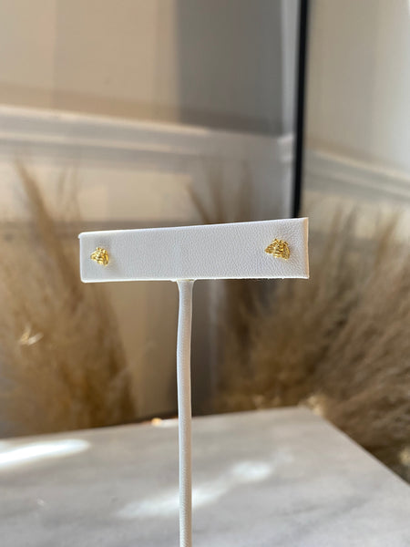 Busy Bee Sterling Silver Studs