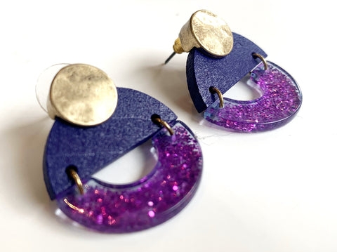 Lavender Me Up Earring