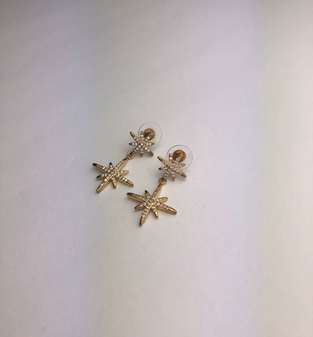 Gold Sparkle Star Earring