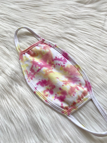 Pink Lemonade Tie Dye Face Mask