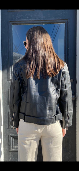 Down To Business Leather Jacket