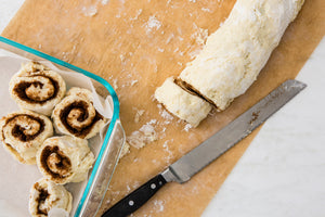 simply flourless cinnamon rolls with cream cheese frosting