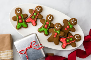 simply flourless gingerbread cookies with royal icing