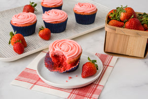 Strawberry Cupcakes with Strawberry Frosting