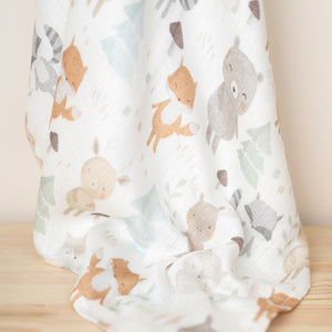MUSSOLA IN BAMBOO - SWADDLE - 100x120 - WOODLAND