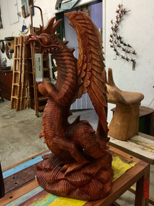 Dragon - 80cm Woodcarving