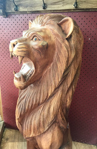 Lion - 80cm Woodcarving