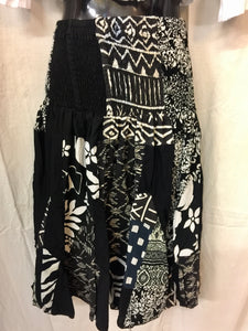 Patchwork Skirt - B&W