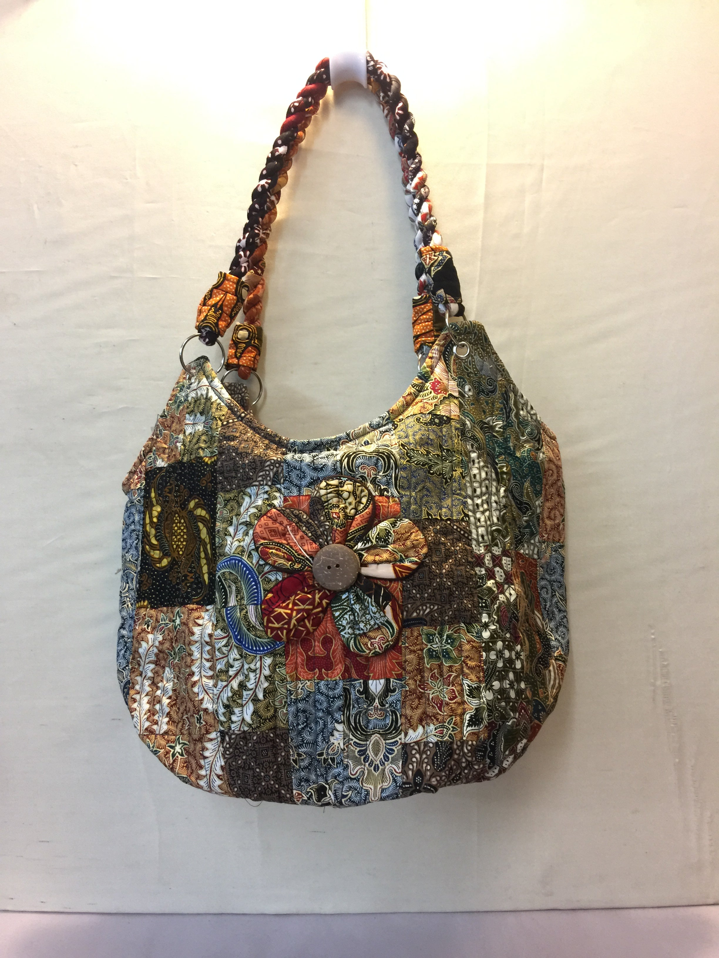 Patchwork Bag with Flower