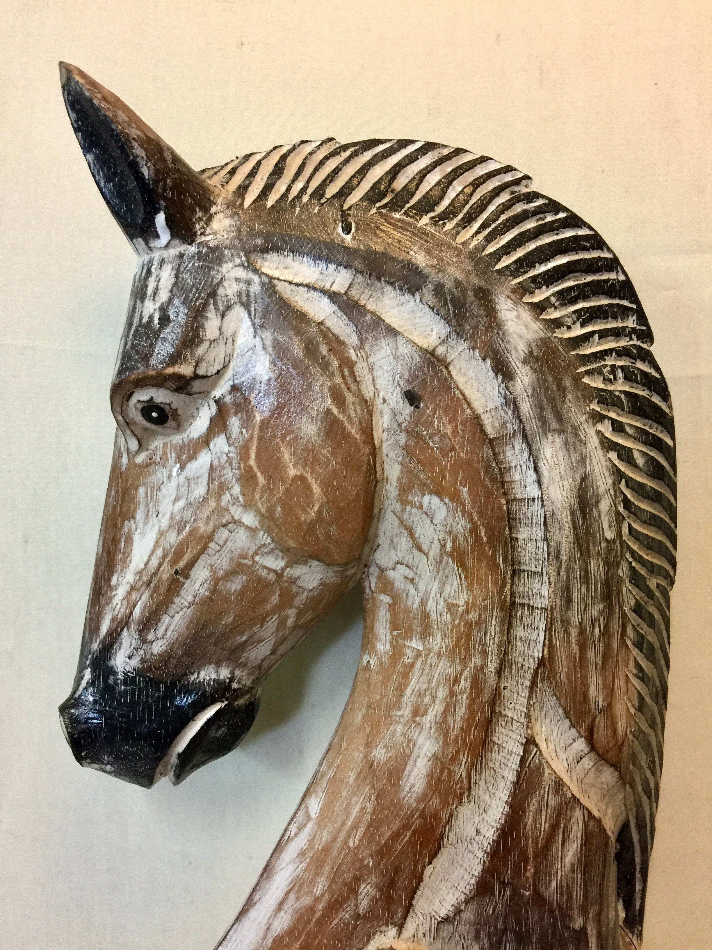 Horse Bust - Woodcarving