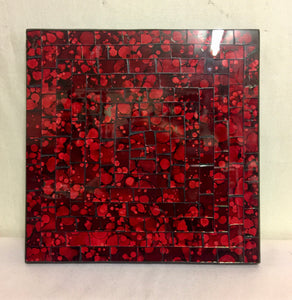 Mosaic - Red Large Coaster