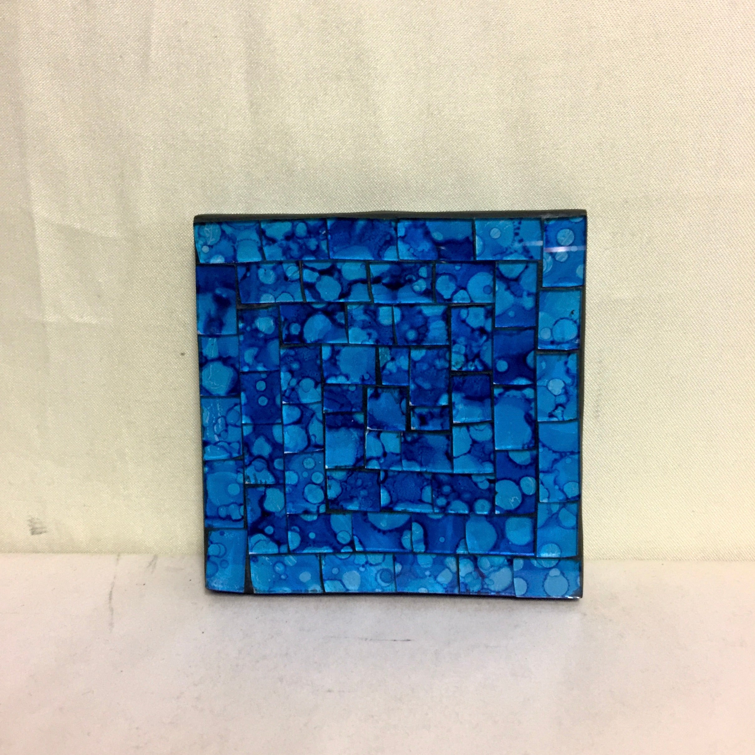 Mosaic - Blue Large Coaster
