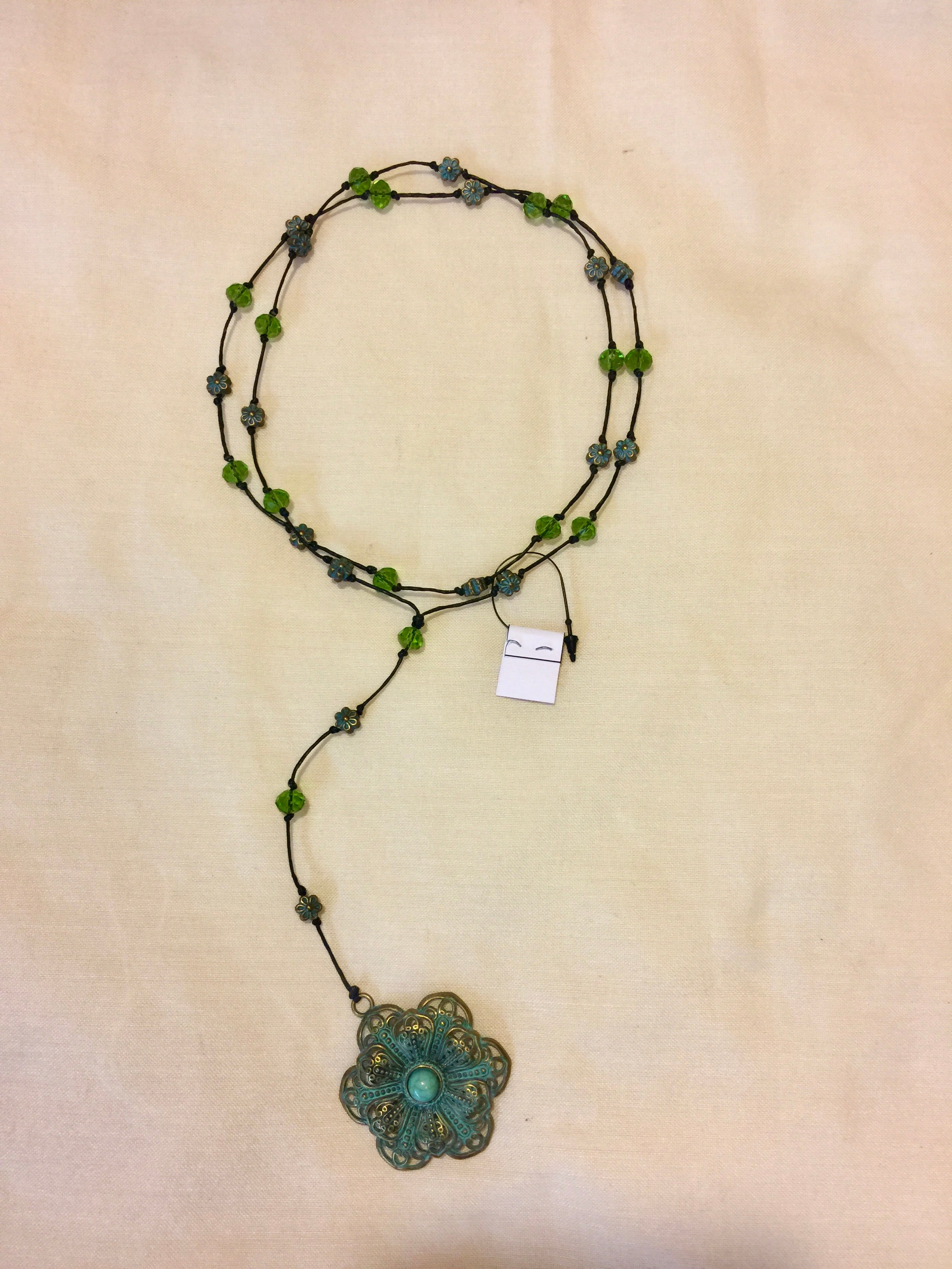 Necklace: Rosary Flower