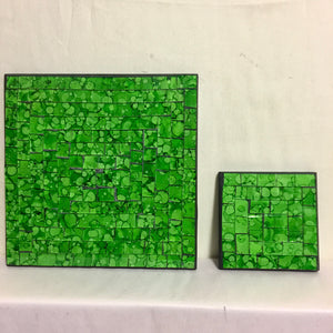 Mosaic - Green Large Coaster