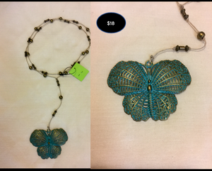 Necklace: Rosary Butterfly