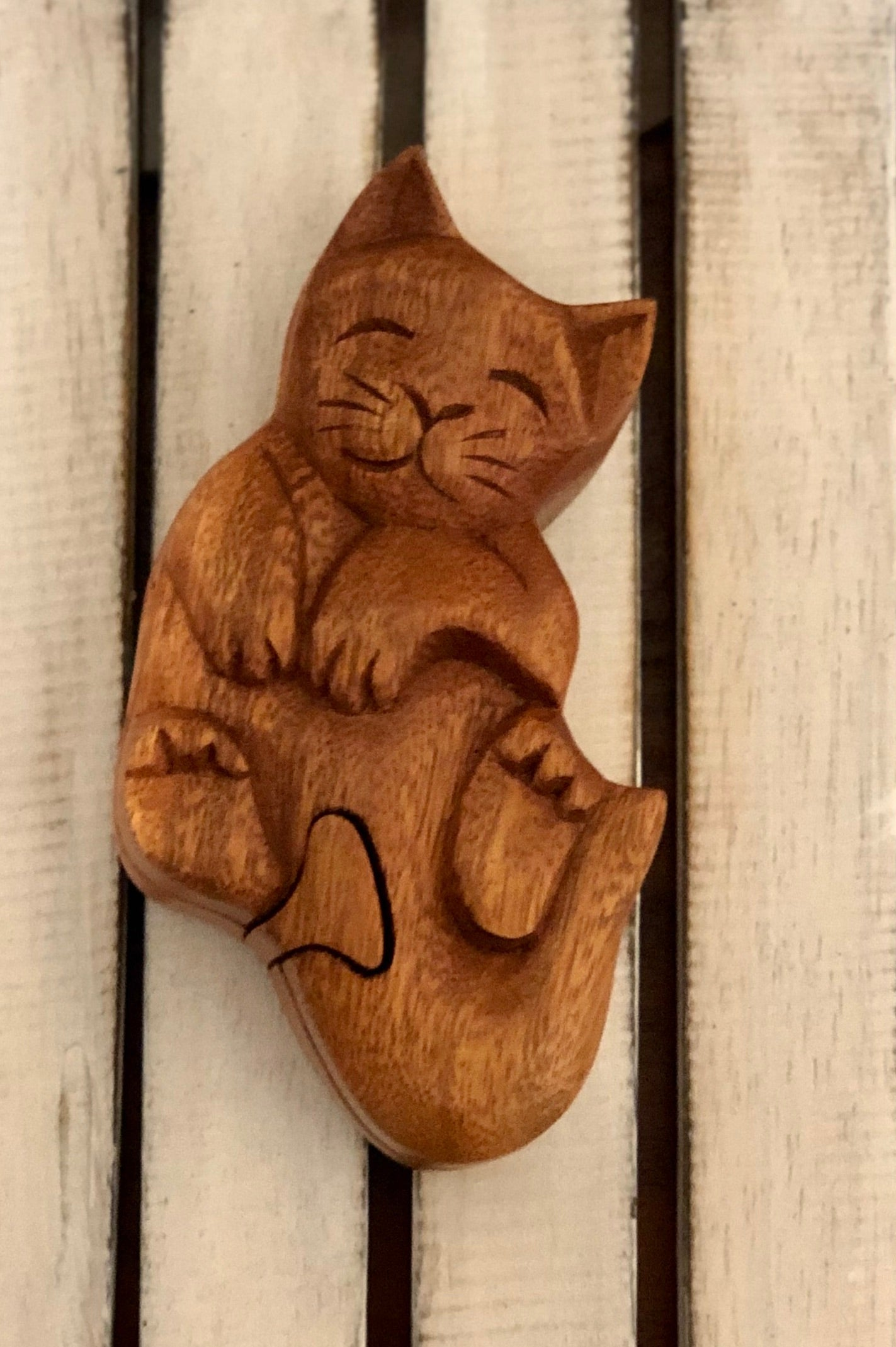 Jewellery Puzzle Box - Cat