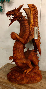 Dragon 80cm  - Woodcarving