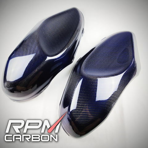 Yamaha XSR900 Side Tank Covers Blue Carbon