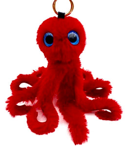 Vegan Fur Octopus Key Chain