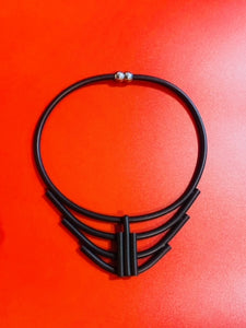 Black Structured Necklace