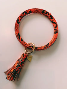 Textured  Loop Key Ring 7.5cm
