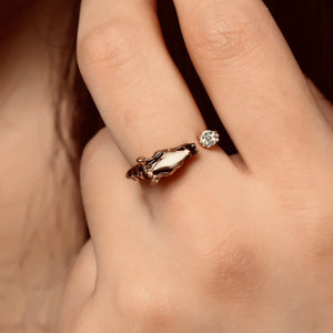 Vintage Zebra Head Ring