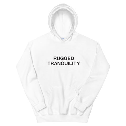 Rugged Tranquility White Hoodie