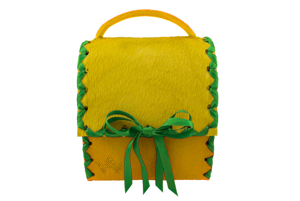 AW Herzerl Yellow Dirndl Bag