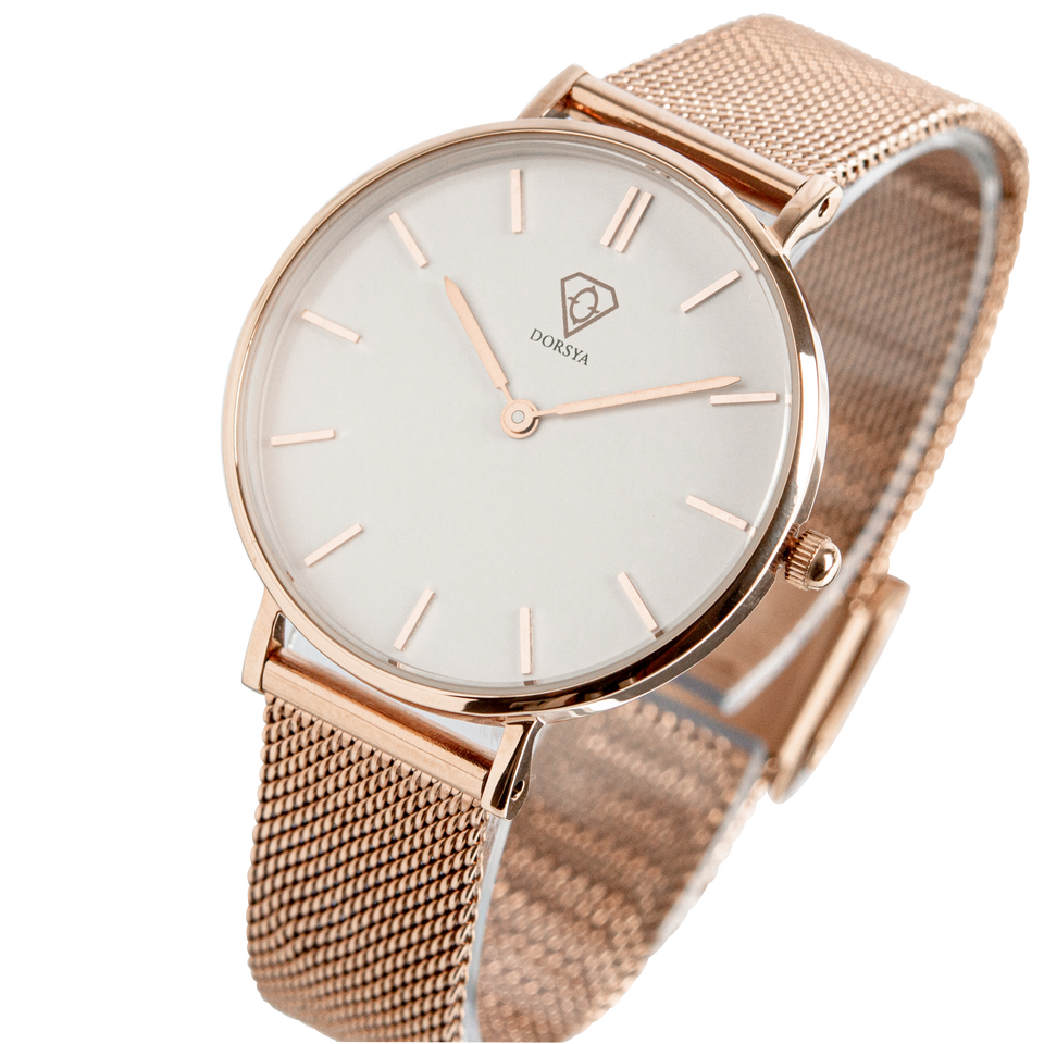 Dorsya | Nortia rose gold minimal watch £89