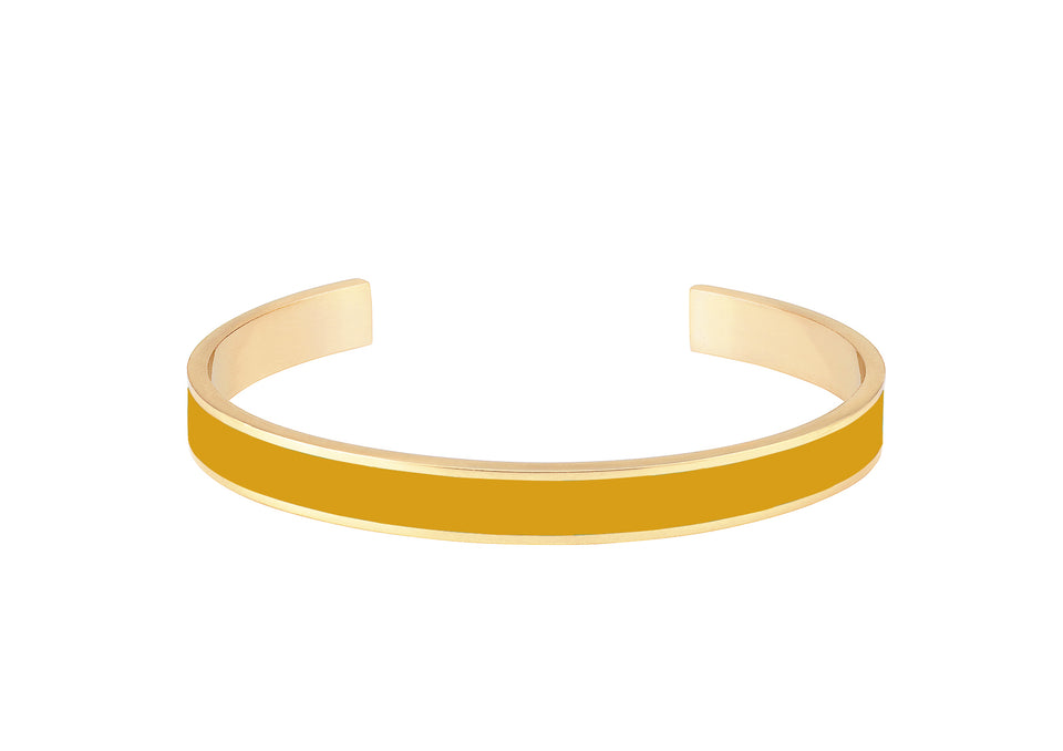 Bangle 0.7cm - Saffron Yellow