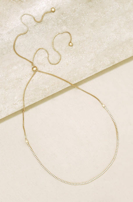 Adjustable Box Chain 18k Gold Plated Choker - SteelJoy!