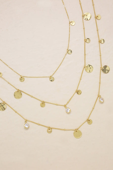 All in Layered Crystal Necklace Set - SteelJoy!