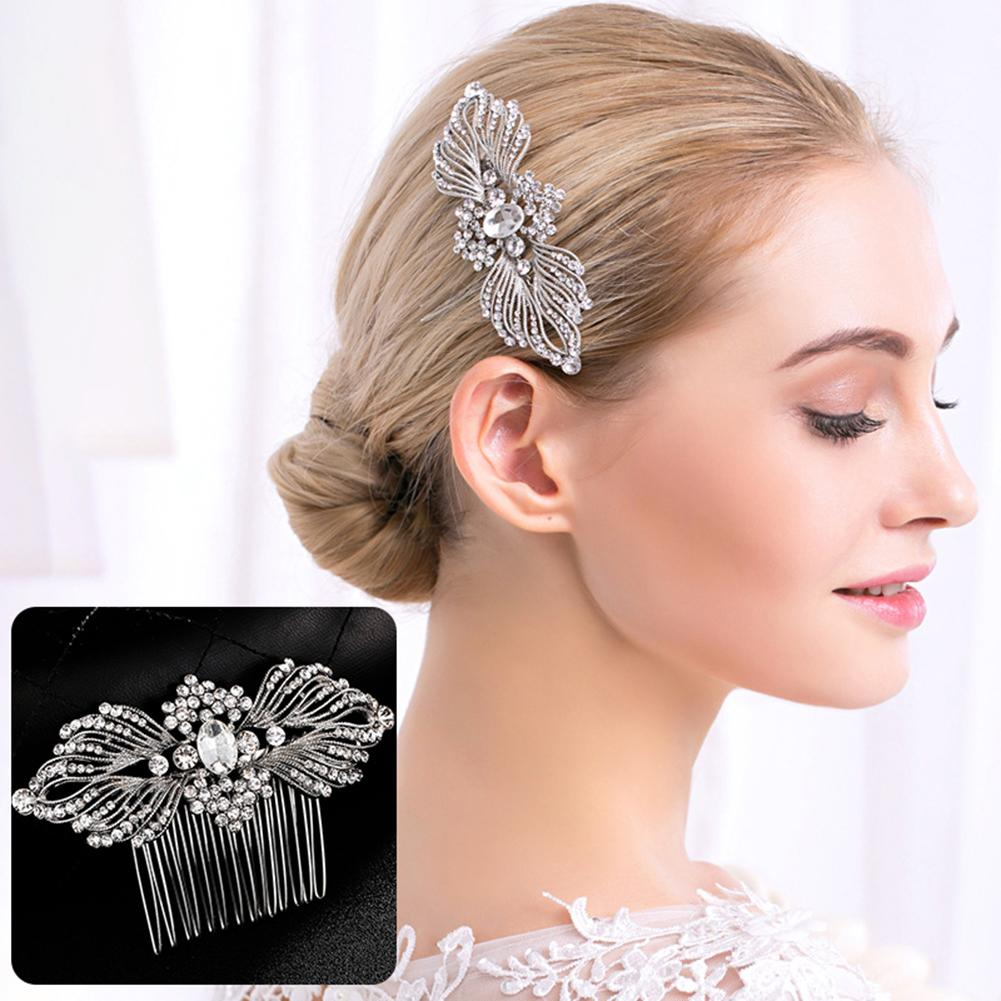 Fashion Bridal Sparkling Rhinestones Hair Comb Hairpin Clip Wedding Jewelry - SteelJoy!