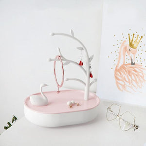 Pink Girl Heart Jewelry Box Swan - SteelJoy!