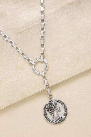 Power Player Coin Lariat Necklace - SteelJoy!