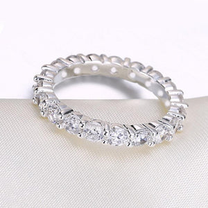 Swarovski Sleek Mini Stone Band Ring - SteelJoy!